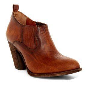 FRYE Ilana leather Shootie heels booties 6 brown